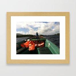 Irish Boat Ride Framed Art Print
