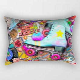 Super Retro Roller Skate Night Rectangular Pillow