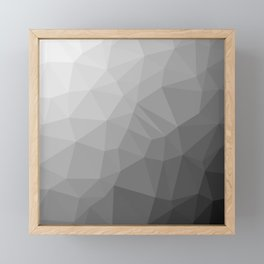 LOWPOLY BLACK AND WHITE Framed Mini Art Print