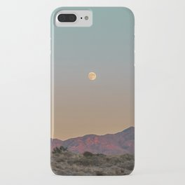 Sunset Moon Ridge // Grainy Red Mountain Range Desert Landscape Photography Yellow Fullmoon Blue Sky iPhone Case