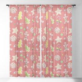 Holiday Treats Sheer Curtain