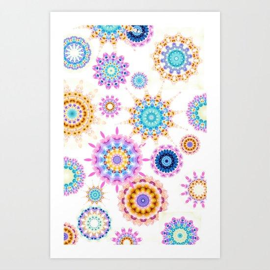Funky Mandala's Art Print