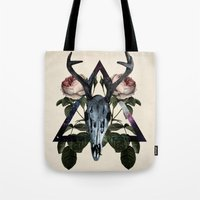 constellation Tote Bags featuring Constellation by Lauren Spooner