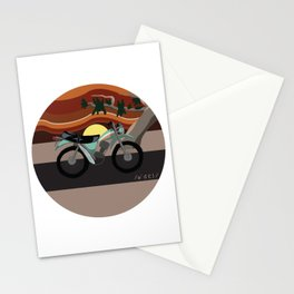 Vintage Moto on the Open Road Stationery Cards