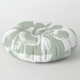 Sage Green Succulent Print Floor Pillow