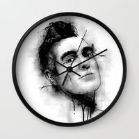 smiths Wall Clocks featuring Smiths  by Mr Skillmatik