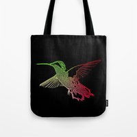 neon Tote Bags featuring Neon by Nichole B.