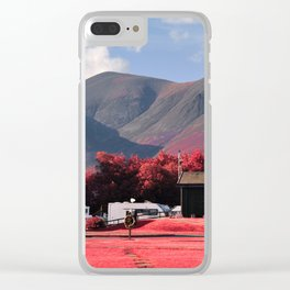Red Mountains Clear iPhone Case