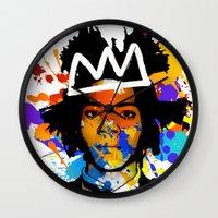 basquiat Wall Clocks featuring BASQUIAT by SebinLondon
