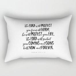 Psalm 121:7-8 - Bible Verse Rectangular Pillow