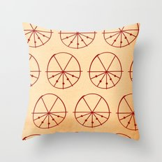 Circle Sections Throw Pillow