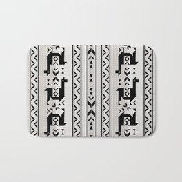 Llamas_Gray & Black Bath Mat