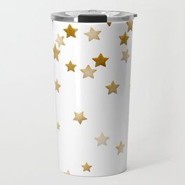 Falling Stars - Gold Marble Travel Mug