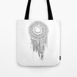 Shifting Moon Tide Dream Catcher Mandala Tote Bag