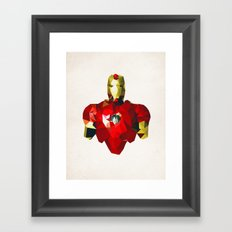 Polygon Heroes - Iron Man Framed Art Print