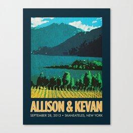 Vineyard Print Canvas Print