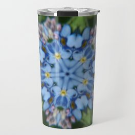 Fluid Nature - Forget Me Not - Abstract Kaleidoscope Travel Mug