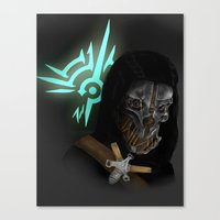dishonored Canvas Prints featuring Dishonored by Hetty's Art