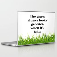 grass Laptop & iPad Skins featuring GRASS by C O R N E L L