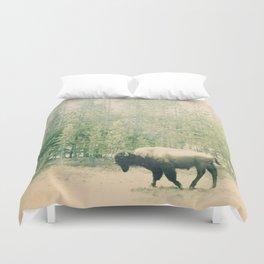 bison I Duvet Cover