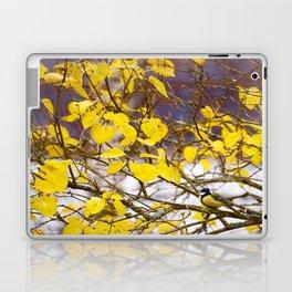 Yellow Leaves and Bird Laptop & iPad Skin