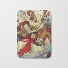 """Yankee Ships"" by Frank Earle Schoonover Bath Mat"