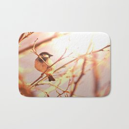Morning sparrow Bath Mat