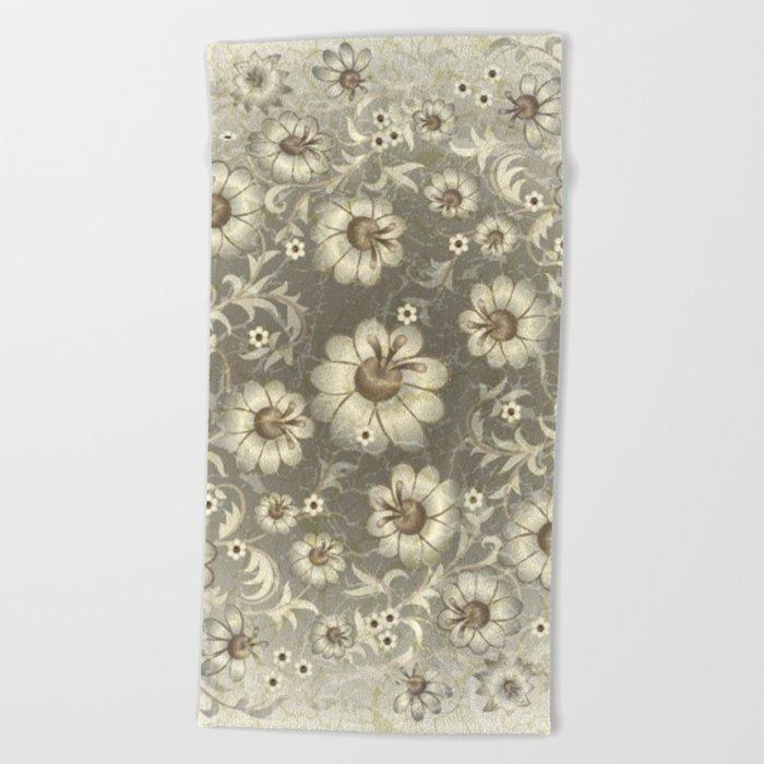 Shabby flowers #12 Beach Towel