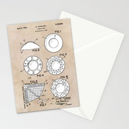 patent art Feinbloom Contact Lens 1938 Stationery Cards