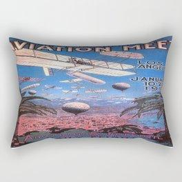 Vintage poster - Aviation Meet Rectangular Pillow