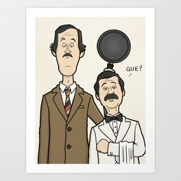 Fawlty Towers - Basil and Manuel Art Print