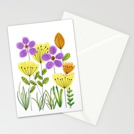 Yellow Tulip Roses Stationery Cards