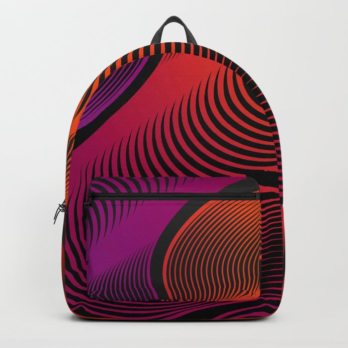 Abstract Moire Backpack