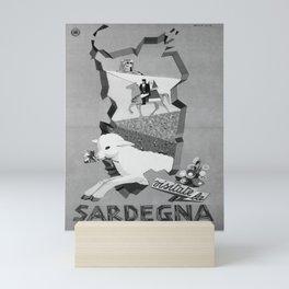 retro vintage ENIT Sardegna poster Mini Art Print