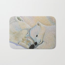 Polar Bear Love #2 Bath Mat