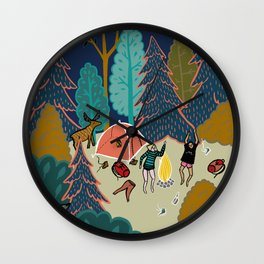 Welcome to Our Place in the Woods Wall Clock