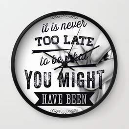 Mew2Quote Wall Clock