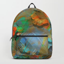"""""""Tropical Spring and butterflies"""" Backpack"""