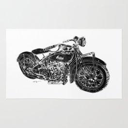 Vintage Indian Motorcycle Rug