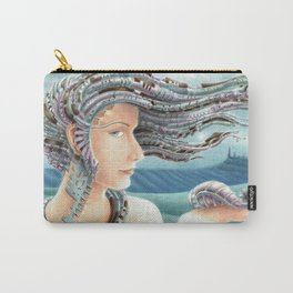 Portrait by the sea 2 Carry-All Pouch