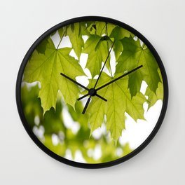The Green Leaves of Summer Wall Clock