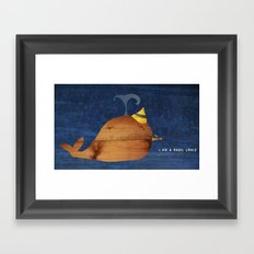i am a happy whale Framed Art Print