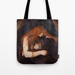 Vampire by Edvard Munch Tote Bag