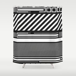 Linear Connection Shower Curtain