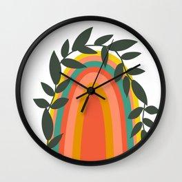 Blooming Rainbow Wall Clock