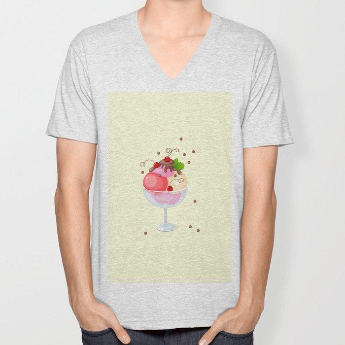 berry ice cream Unisex V-Neck