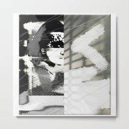 Woman and The Wall Metal Print