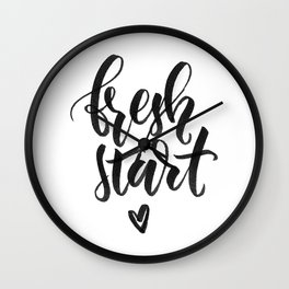 Fresh Start Wall Clock
