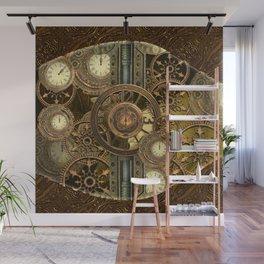 Steampunk, awesome clocks Wall Mural