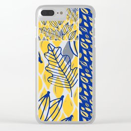 ABSTRACTION DISTRACTION Clear iPhone Case